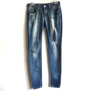 BDG Distressed Cigarette Skinny Jean 28 Long Tall